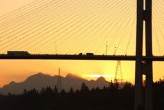 αυγή fraser Βανκούβερ γεφυρών &t Στοκ φωτογραφίες με δικαίωμα ελεύθερης χρήσης