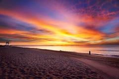 αυγή Maine παραλιών Στοκ εικόνα με δικαίωμα ελεύθερης χρήσης
