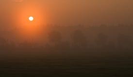 αυγή misty στοκ φωτογραφία με δικαίωμα ελεύθερης χρήσης