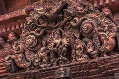 18 Αυγούστου 2014 - λεπτομέρειες του ινδού ναού σε Patan, Νεπάλ Στοκ Φωτογραφίες
