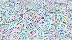 30 Αυγούστου ημερομηνία στην υπογραμμισμένη ημερολογιακή σελίδα, τρισ φιλμ μικρού μήκους