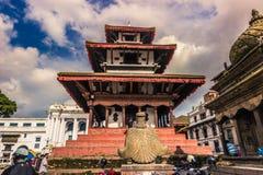 19 Αυγούστου 2014 - ναός στο βασιλικό τετράγωνο του Κατμαντού, Νεπάλ Στοκ Φωτογραφίες