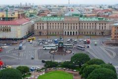 6 Αυγούστου 2016 - πανοραμική άποψη της πλατείας Αγίου Isaac στην Αγία Πετρούπολη, Ρωσία στοκ εικόνες