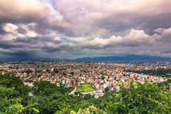 19 Αυγούστου 2014 - πανόραμα του Κατμαντού, Νεπάλ Στοκ φωτογραφία με δικαίωμα ελεύθερης χρήσης