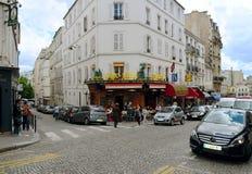 11 Αυγούστου 2011 Παρίσι Γαλλία Φραγμός 12 Λουξεμβούργο rue Lepic, 75018 Pari Στοκ Εικόνα