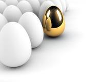αυγό έννοιας χρυσό Στοκ εικόνες με δικαίωμα ελεύθερης χρήσης