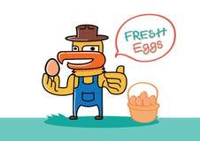 Αυγό λαβής αγροτών κοτόπουλου Στοκ εικόνα με δικαίωμα ελεύθερης χρήσης