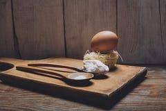 Αυγό, αλεύρι και άλας Στοκ εικόνα με δικαίωμα ελεύθερης χρήσης