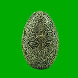 αυγό διακοσμήσεων πεπιεσμένου χαρτιού με ένα σχέδιο στοκ εικόνες