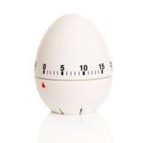 Αυγό-διαμορφωμένο άσπρο χρονόμετρο Στοκ Εικόνες