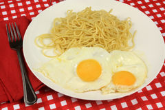 Αυγό και μακαρόνια στοκ εικόνες με δικαίωμα ελεύθερης χρήσης
