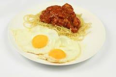 Αυγό και μακαρόνια Στοκ Φωτογραφία