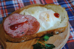 Αυγό και μπέϊκον για το πρόγευμα Στοκ φωτογραφίες με δικαίωμα ελεύθερης χρήσης