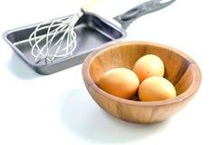 Αυγό και τηγάνι Στοκ Φωτογραφία