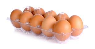 Αυγό κοτόπουλου που απομονώνεται σε ένα άσπρο υπόβαθρο Στοκ Εικόνες