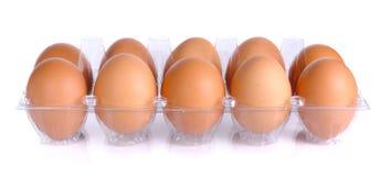 Αυγό κοτόπουλου που απομονώνεται σε ένα άσπρο υπόβαθρο Στοκ εικόνα με δικαίωμα ελεύθερης χρήσης