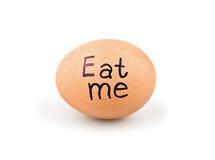Αυγό με ένα σύνθημα Στοκ φωτογραφία με δικαίωμα ελεύθερης χρήσης