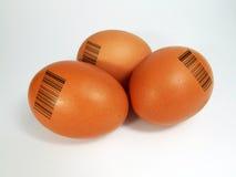 Αυγό με το γραμμωτό κώδικα Στοκ Φωτογραφίες