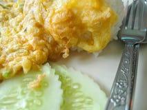 Αυγό ομελετών με το ρύζι Στοκ φωτογραφία με δικαίωμα ελεύθερης χρήσης