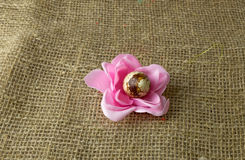Αυγό ορτυκιών με μορφή ενός λουλουδιού στις διακοπές Πάσχας στοκ εικόνες με δικαίωμα ελεύθερης χρήσης