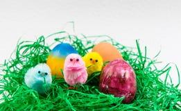 Αυγό Πάσχας και μικροί νεοσσοί Στοκ φωτογραφία με δικαίωμα ελεύθερης χρήσης