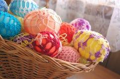 αυγό Πάσχας καλαθιών Στοκ φωτογραφίες με δικαίωμα ελεύθερης χρήσης