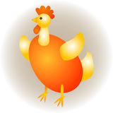 Αυγό Πάσχας κοτόπουλου Στοκ Φωτογραφίες