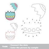 Αυγό Πάσχας με το σπασμένο κοχύλι Διανυσματικό παιχνίδι αριθμών Στοκ Εικόνα