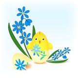 αυγό Πάσχας νεοσσών που εκκολάπτεται απεικόνιση αποθεμάτων
