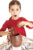 αυγό Πάσχας παιδιών Στοκ Φωτογραφία