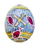 Αυγό Πάσχας που χρωματίζεται στο λαϊκό ύφος Στοκ φωτογραφία με δικαίωμα ελεύθερης χρήσης
