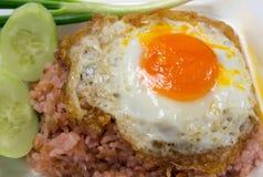 αυγό που τηγανίζεται Στοκ Φωτογραφία