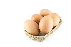 Αυγό στο καλάθι Στοκ φωτογραφίες με δικαίωμα ελεύθερης χρήσης