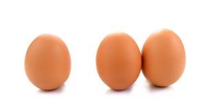 αυγό τρία που απομονώνεται στο άσπρο υπόβαθρο Στοκ Εικόνες