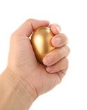 αυγό χρυσό Στοκ εικόνα με δικαίωμα ελεύθερης χρήσης