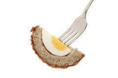 Αυγό Scoch στο δίκρανο Στοκ Φωτογραφία
