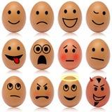 Αυγό smileys Στοκ Εικόνες