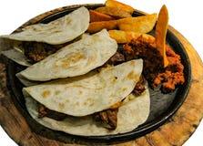 Αυθεντικά μεξικάνικα tacos Στοκ Εικόνες