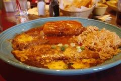 αυθεντικά enchiladas βόειου κρέατος στο εστιατόριο Λα Στοκ φωτογραφία με δικαίωμα ελεύθερης χρήσης