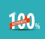 100 αυθεντικής επίπεδης τοις εκατό τυπογραφίας σχεδίου γραφικής Στοκ Εικόνα