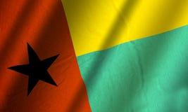 Αυθεντική ζωηρόχρωμη σημαία της Γουινέα-Μπισσάου ελεύθερη απεικόνιση δικαιώματος