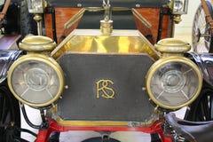 Αυθεντική μεταφορά Rolls-$l*royce της αρχής της μπροστινής άποψης 20ου αιώνα Στοκ Εικόνες