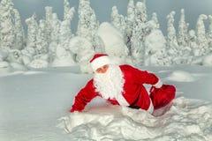 Αυθεντικός Άγιος Βασίλης στο Lapland στοκ εικόνα με δικαίωμα ελεύθερης χρήσης