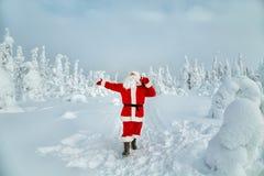 Αυθεντικός Άγιος Βασίλης στο Lapland στοκ εικόνα