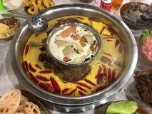 Αυθεντικό κινεζικό πικάντικο καυτό δοχείο Chongqing στοκ εικόνα