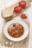 Αυθεντικό ουγγρικό goulash βόειου κρέατος με την πάπρικα Στοκ Εικόνες