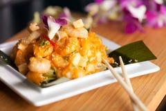 Αυθεντικό ταϊλανδικό πιάτο γαρίδων Στοκ φωτογραφίες με δικαίωμα ελεύθερης χρήσης