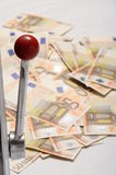 αυλάκωση χρημάτων μηχανών μερών Στοκ Φωτογραφίες