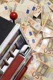 αυλάκωση χρημάτων μηχανών μερών Στοκ Εικόνες