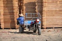 αυλή εργαζομένων pengzhou ξυλεί Στοκ εικόνες με δικαίωμα ελεύθερης χρήσης